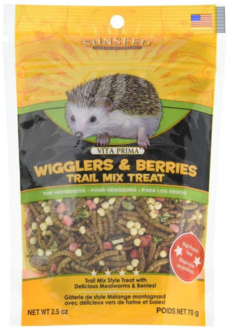 Sunseed Vita Prima Wigglers & Berries Trail Mix Hedgehog Treat 2.5 oz