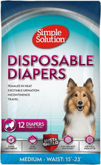 "Simple Solution Disposable Diapers Medium - 12 Count - (Waist 16.5""-21"")"