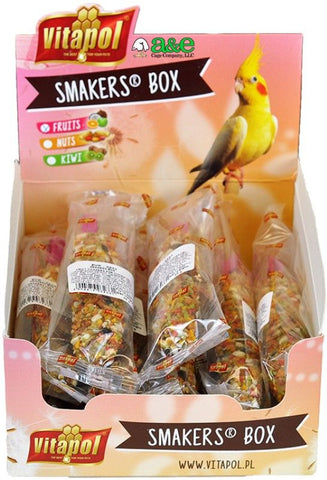 A&E Cage Company Smakers Cockatiel Fruit Treat Sticks 12 count