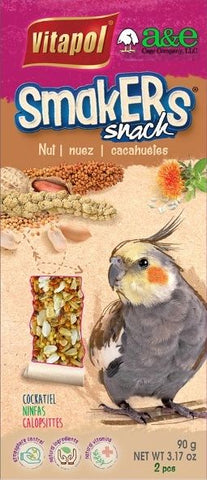 A&E Cage Company Smakers Cockatiel Nut Treat Sticks 2 count