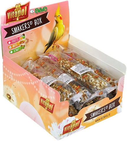 A&E Cage Company Smakers Cockatiel Nut Treat Sticks 12 count