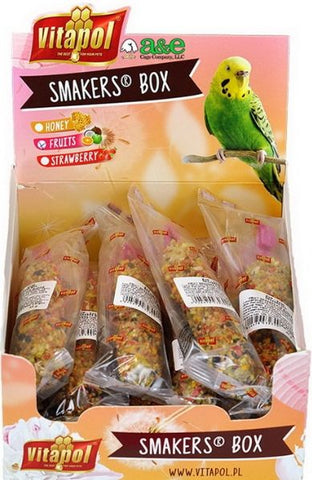 A&E Cage Company Smakers Parakeet Fruit Treat Sticks 12 count