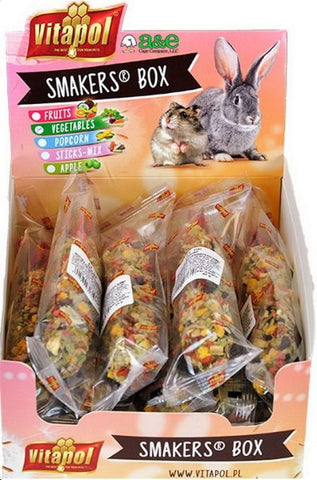A&E Cage Company Smakers Vegetable Sticks for Small Animals 12 count