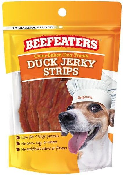 Beafeaters Oven Baked Duck Jerky Strips for Dogs 24 oz