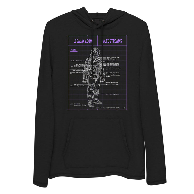 The LC Galaxy Spaceman Diagram Hoodie