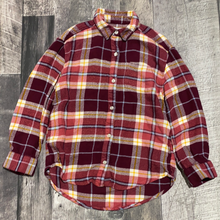 Load image into Gallery viewer, Old Navy burgundy plaid button up - Girls size 8