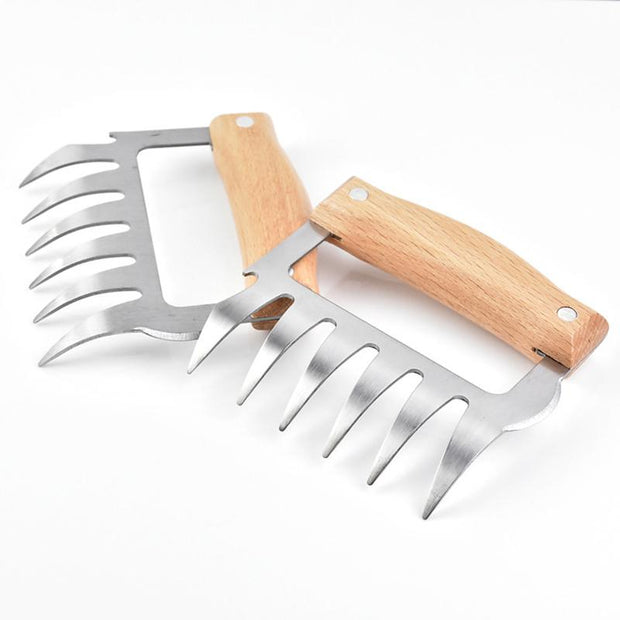Stainless Steel Bear Claw Meat Shredder BBQ Fork 1