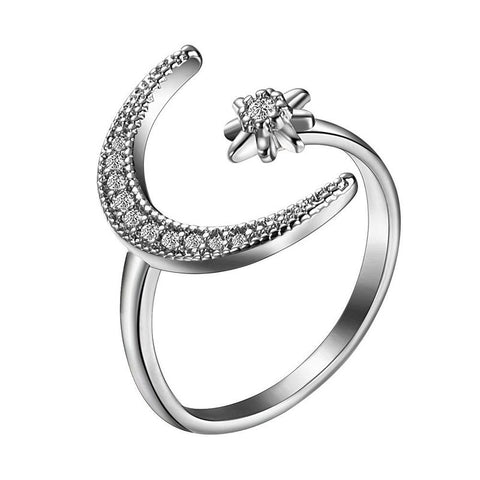 Star Crescent Ring (adjustable size)
