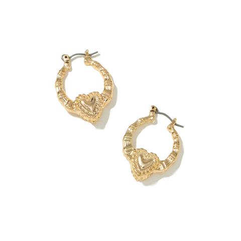 Mini heart bamboo hoops LIMITED STOCK
