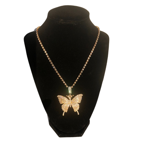 Gold Butterfly Choker and necklace set