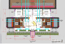 Load image into Gallery viewer, concrete-earthship-tire-split-level-lower-floor-plan