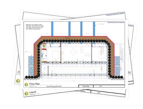 Encounter Earthship Construction Drawings - Earthship Biotecture