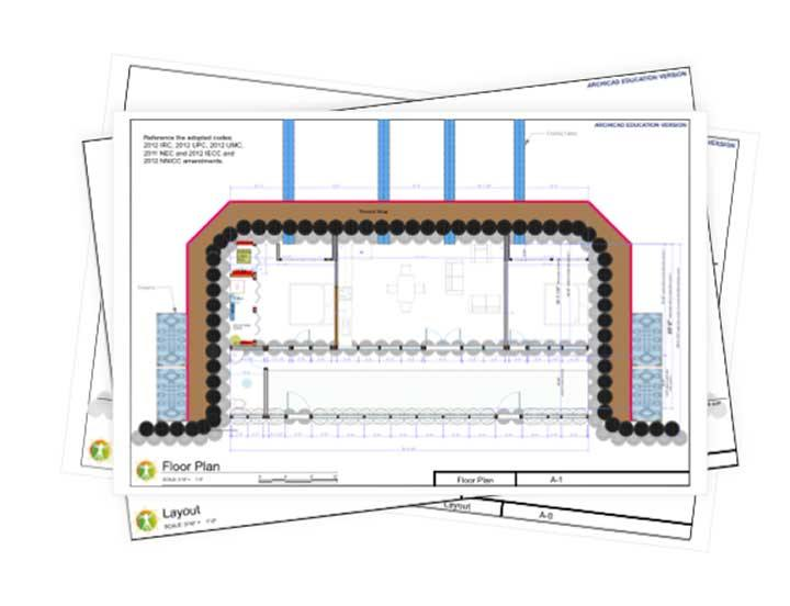 Encounter Earthship Construction Drawings
