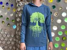 Load image into Gallery viewer, Tree T Hoodie - Blue - Earthship Biotecture
