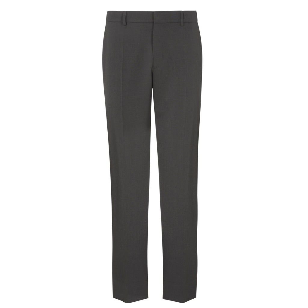 C433 WIDE-LEG WOOL PANTS WITH CONTRAST PIPING