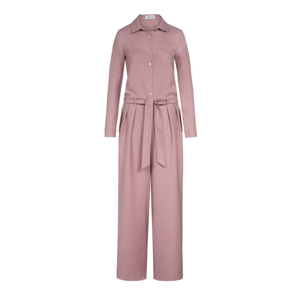 C284 Jumpsuit with herringbone pattern made from new wool - Made in Germany
