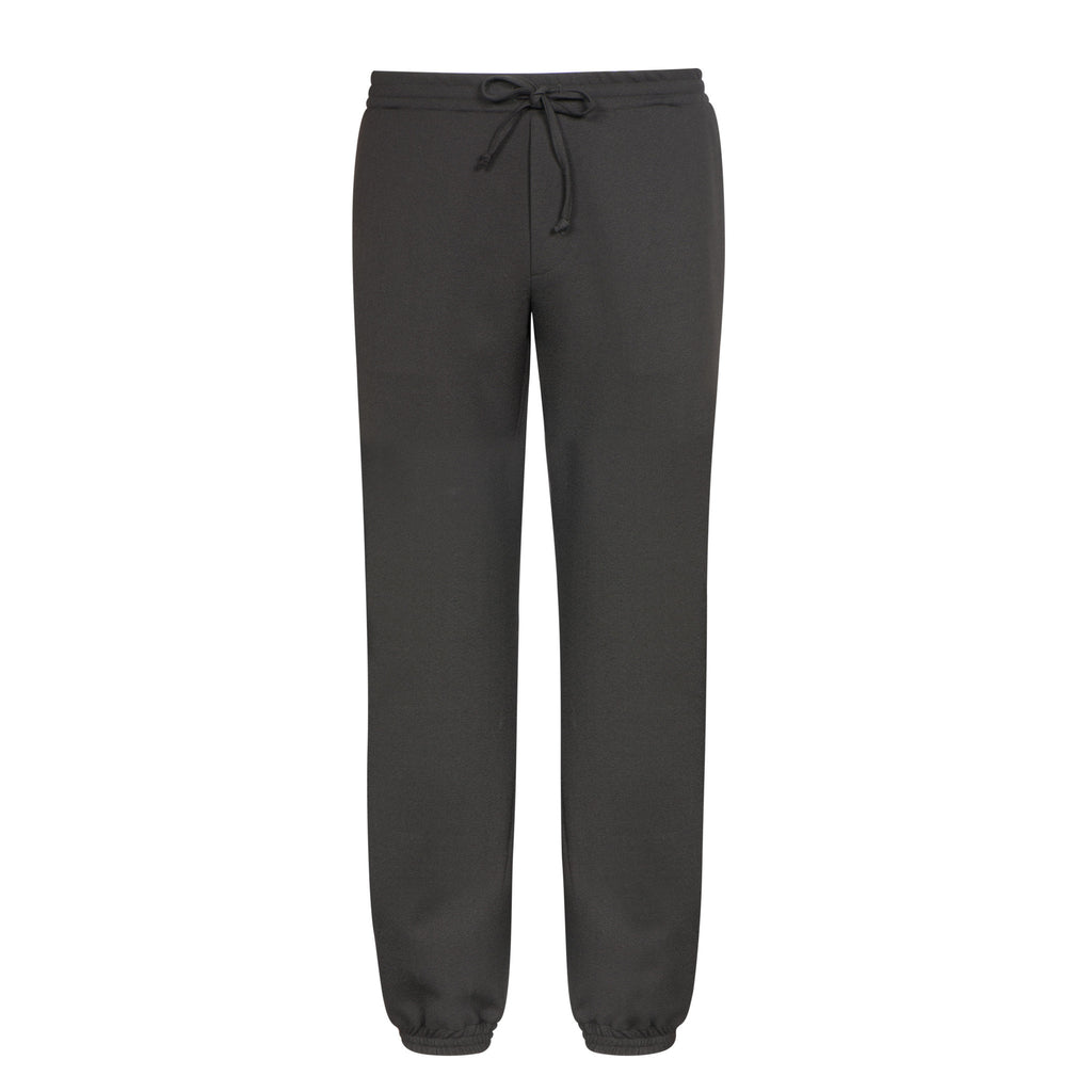 C316 Schwarze Crêpe Jogginghose mit Gummibund – Made in Germany