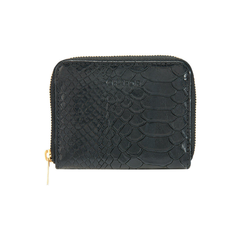 CHAFOR Small wallet in black snake print