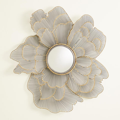 Iron Poppy Flower Mirror