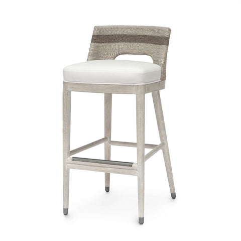 Fritz Rope Counter Stool, Fog White