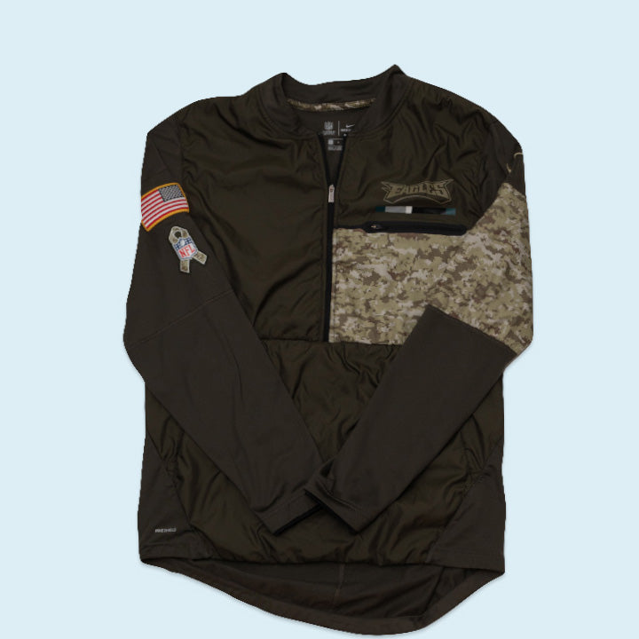 "Nike Jacket ""Eagles Salute to Service"", Green, L"