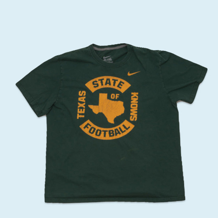 Nike T-Shirt Texas State Knows Football, Green, XXL
