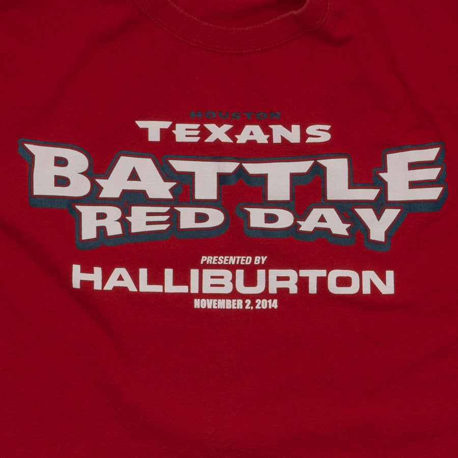 Houston Texans Battle Red Day T-Shirt, Red, XL