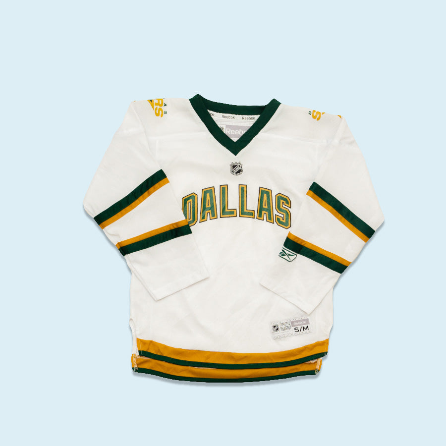 Reebok NHL Dallas Stars Jersey, White, S/M Youth