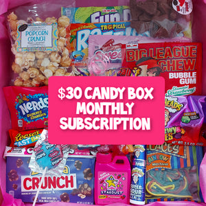 $30 Monthly Candy Subscription