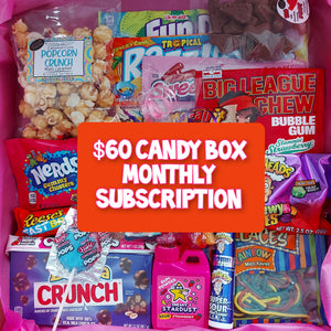 $60 Monthly Candy Subscription