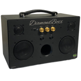 DiamondBoxx M3 with gold knobs bluetooth boombox spotify pandora soundcloud