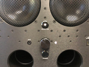 DiamondBoxx XL2 front panel black woofers ports