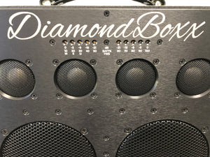 DiamondBoxx XL2 front aluminum panel black neodymium titanium dome tweeters