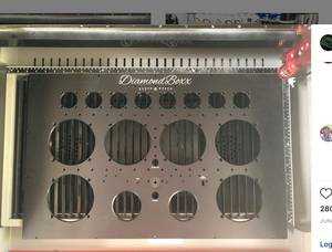 DiamondBoxx XL2 Black laser logos aluminum front panel anodized