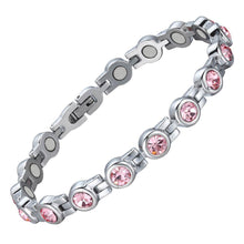 Load image into Gallery viewer, Pink Crystals Bracelet
