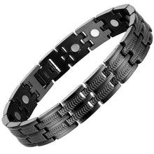 Load image into Gallery viewer, Black Titanium Magnetic Bracelet-GaussTherapy