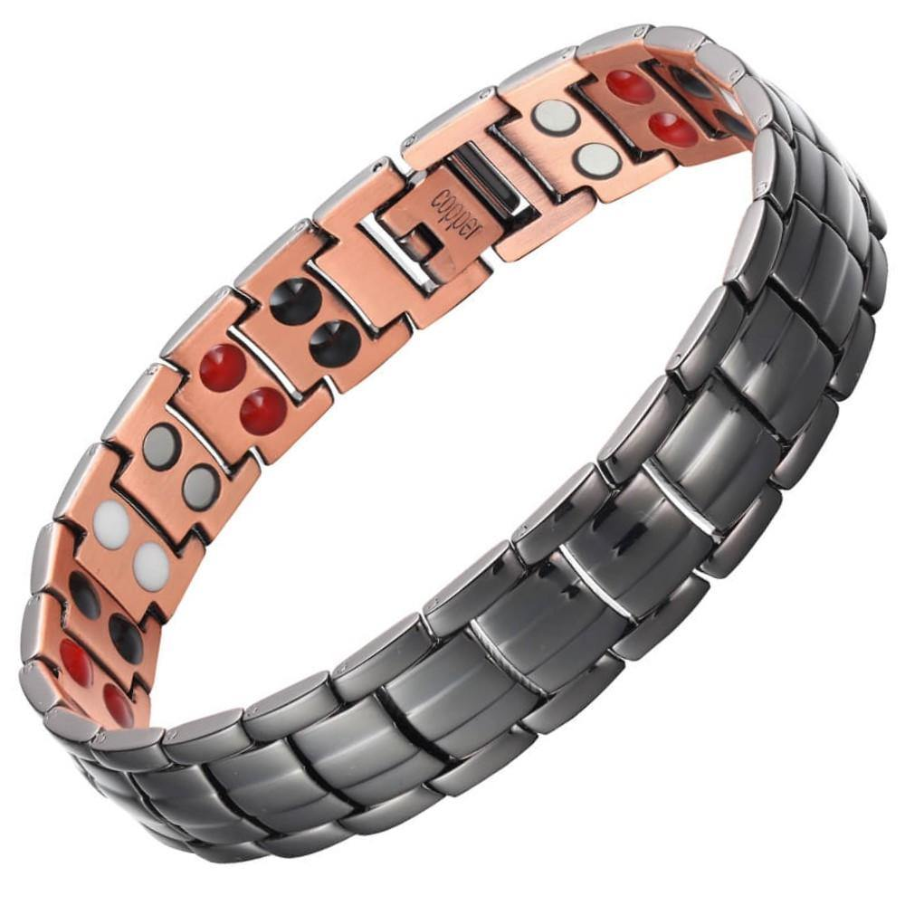 Classic 4in1 Black Copper Magnetic Bracelet-GaussTherapy