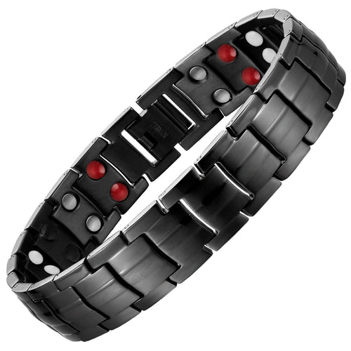 Gun Metal Titanium 4in1 Magnetic Therapy Bracelet-GaussTherapy