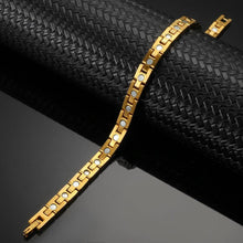 Load image into Gallery viewer, Affinity Gold Stainless Steel Magnetic Bracelet-GaussTherapy