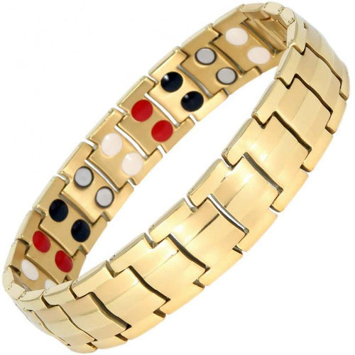 Gold Titanium 4in1 Magnetic Therapy Bracelet - GaussTherapy