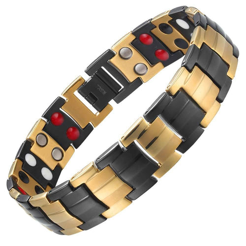 Black Gold Titanium 4in1 Magnetic Therapy Bracelet-GaussTherapy