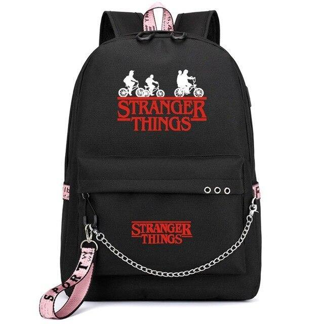 Sac Stranger Things Bike noir/rose