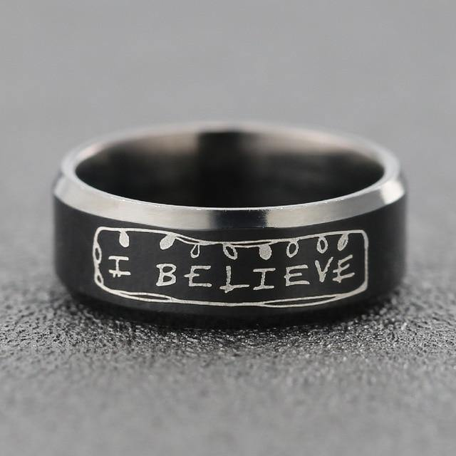 Bague Stranger Things I Believe | La Boutique Stranger Things