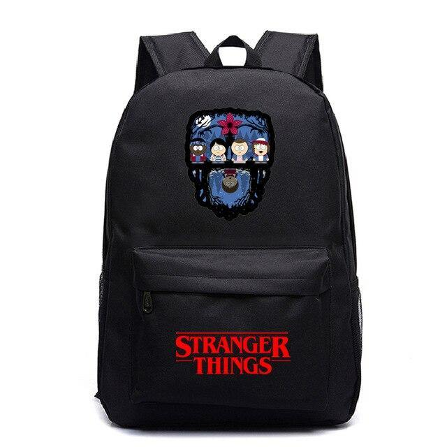 Sac Stranger Things dessin noir