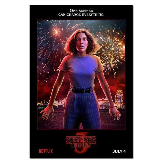 Poster Stranger Things S3 Eleven feu d'artifice