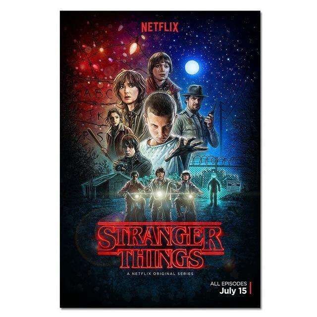 Poster Stranger Things groupe couleurs