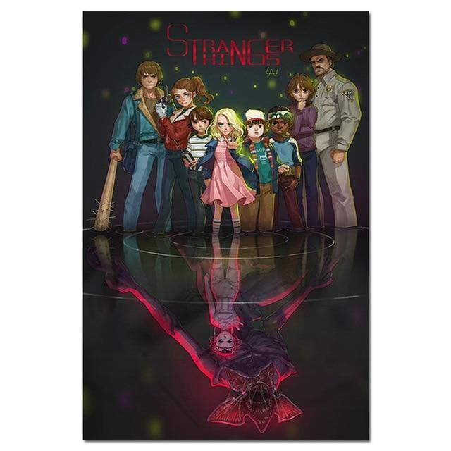 Poster Stranger Things groupe dessin