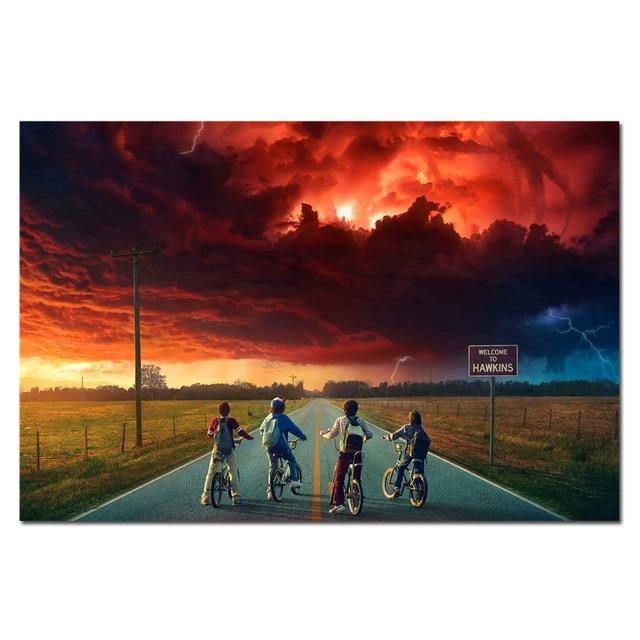 Poster Stranger Things Road paysage