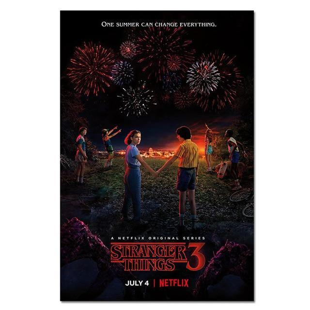 Poster Stranger Things S3 feu d'artifice
