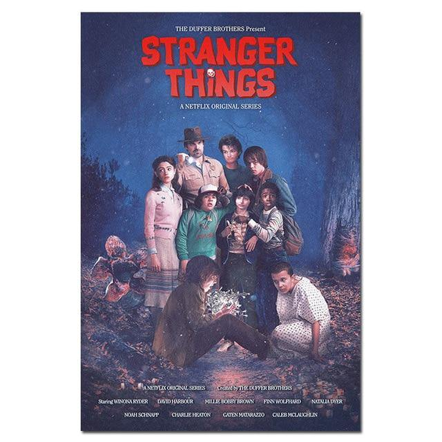Poster Stranger Things groupe